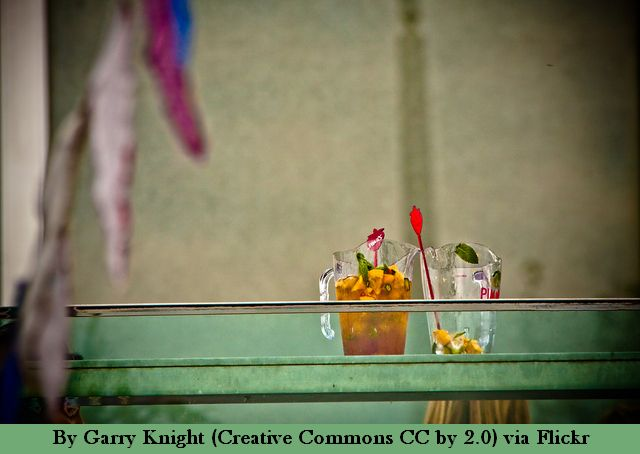 Seen on the balcony of the Royal Festival Hall at the South Bank.
