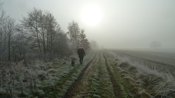 Molly and me on the bridlepath.